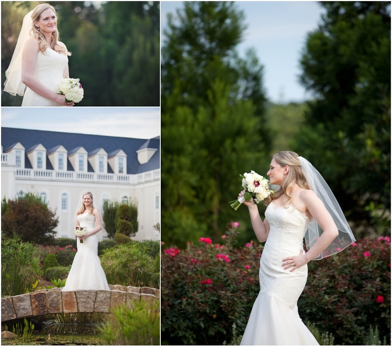 Raleigh Wedding Photographer: Courtney's Bridal Portraits At The Hall & Gardens At