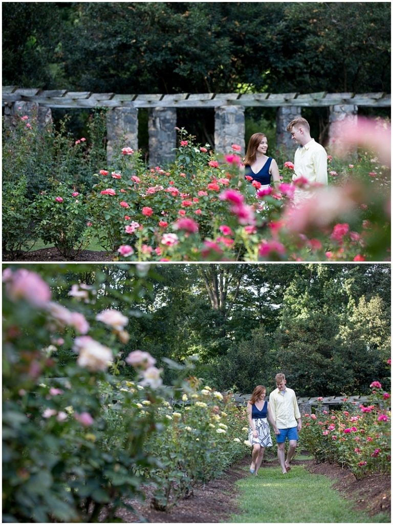 Mary kate garnett are engaged j b haygood photography for Raleigh little theater rose garden